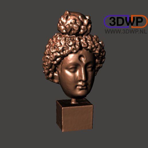 Download free 3D printing templates Head Of Buddha 3D Scan (Bodhisattva Sculpture), 3DWP