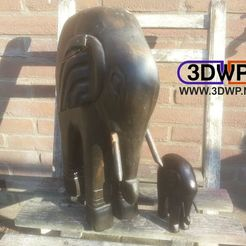 Download free 3D printer designs Elephant Statue 3D Scan, 3DWP