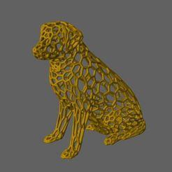 Imprimir en 3D gratis Patrón de la Escultura del Labrador (Estilo Voronoi), 3DWP