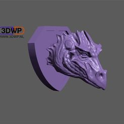 Dragon.JPG Download free STL file Dragon Head Wall Mount (Trophy) • Object to 3D print, 3DWP