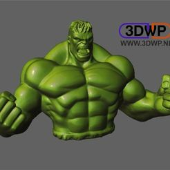 Hulk.JPG Download free STL file Hulk Sculpture (Statue 3D Scan) • 3D printable object, 3DWP