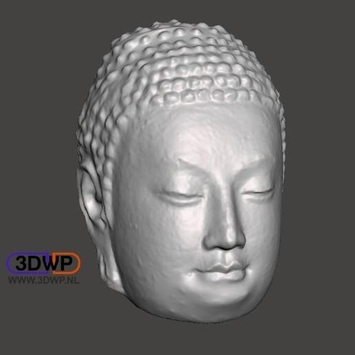 Télécharger fichier 3D gratuit Tête de Bouddha (creuse), 3DWP
