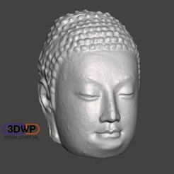 Download free 3D print files Buddha Head (Hollow), 3DWP