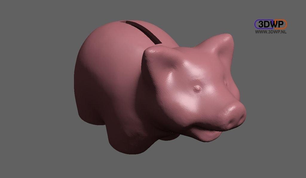 Piggybank.jpg Télécharger fichier STL gratuit Tirelire (Scan 3D édité) • Design imprimable en 3D, 3DWP