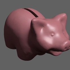 Download free 3D printer model Piggy Bank (Edited 3D Scan), 3DWP