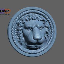 DoorLion1.jpg Download free STL file Door Lion Wall Hanger • Object to 3D print, 3DWP