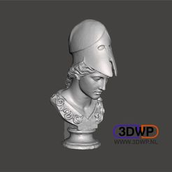 Imprimir en 3D gratis Busto de Atenea (Escaneo 3D de la estatua griega), 3DWP