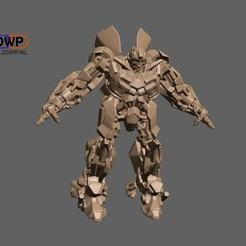 Download free 3D print files Transformers Bumblebee (Solid Model), 3DWP