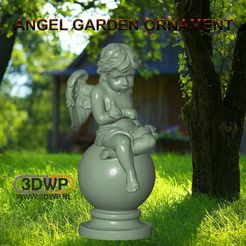 Download free 3D print files Angel Garden Ornament, 3DWP