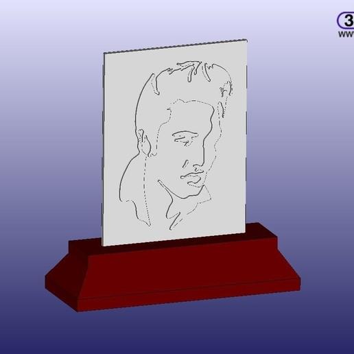 Download free 3D printer model Elvis Silhouette Remix, 3DWP