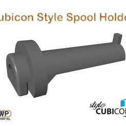 CubiconStyleSpoolHolder.JPG Download free STL file Cubicon Style Spool Holder • 3D printable model, 3DWP