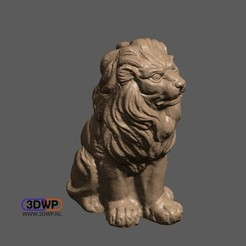 Lion.JPG Download free STL file Lion Sculpture 3D Scan • 3D printable template, 3DWP