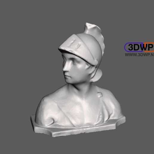 Download free 3D printer designs Antique Bust 3D Scan, 3DWP