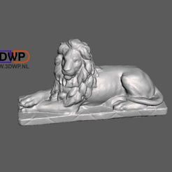 LionStatue.jpg Download free STL file Lion Statue 3D Scan • 3D printer object, 3DWP