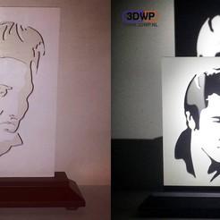 Télécharger plan imprimante 3D gatuit Silhouette d'Elvis, 3DWP