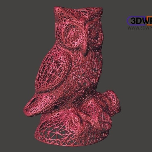 Download free 3D printing models Owl Statue 3D Scan (Voronoi Style), 3DWP