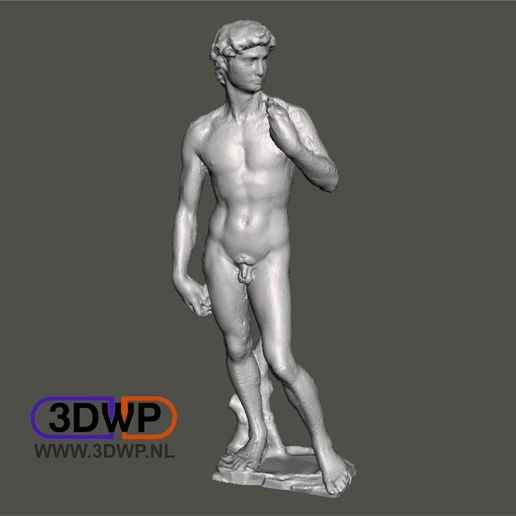 Download free 3D printer designs David By Michelangelo Sculpture (Statue 3D Scan), 3DWP