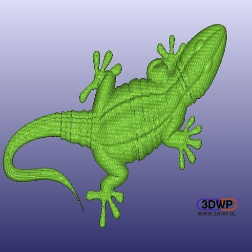 Download free 3D printing designs Gecko, 3DWP