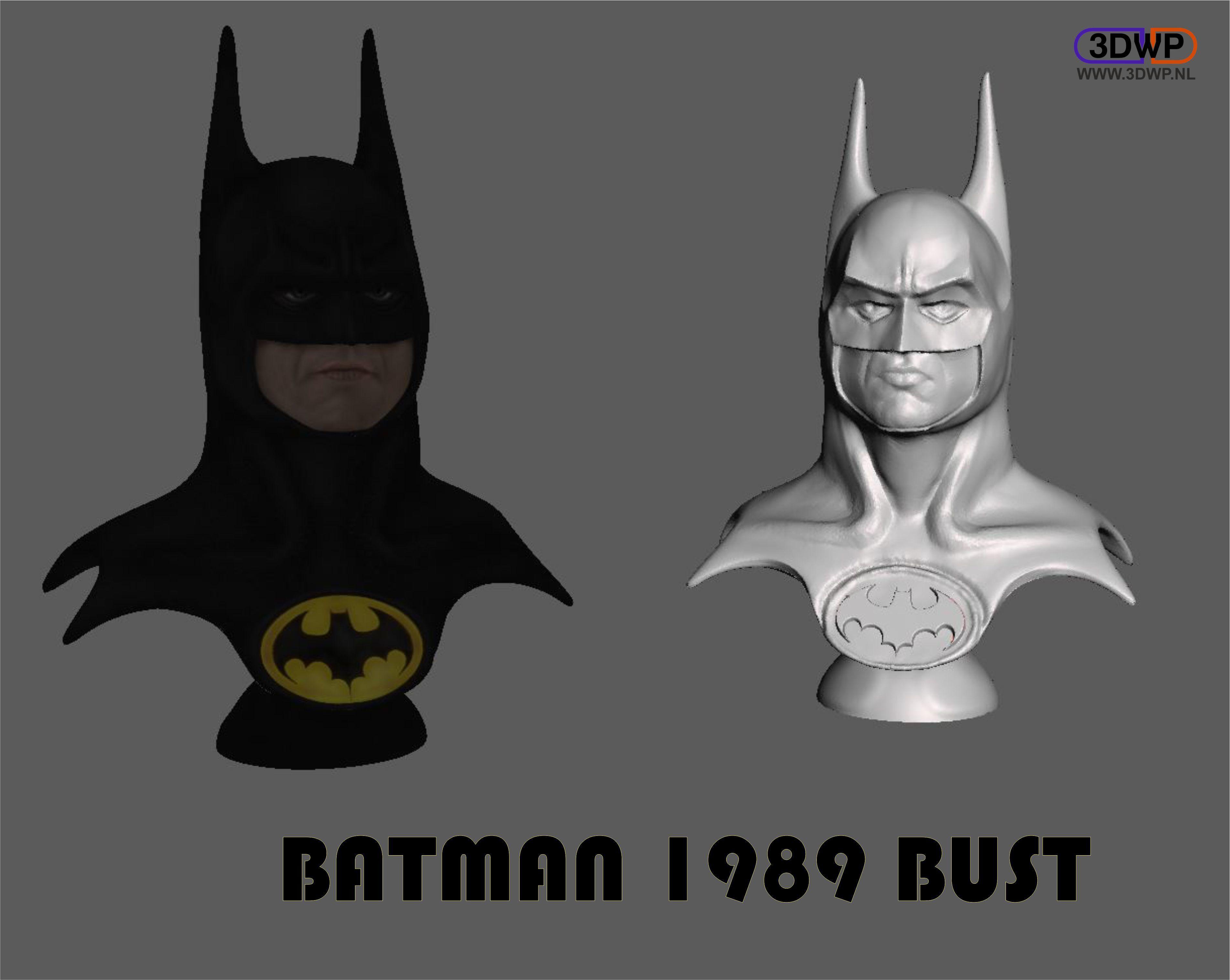 Batman_1989.JPG Download STL file Batman 1989 Bust (Michael Keaton) • 3D printable object, 3DWP