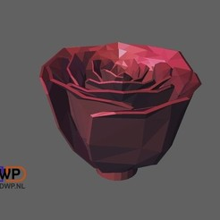 Download free STL file Jillian's Rose Fixed (Made Solid With MeshMixer), 3DWP