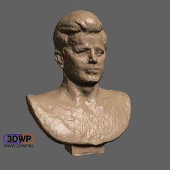 JFK.jpg Download free STL file John F. Kennedy Bust (JFK statue 3D Scan) • 3D printer model, 3DWP