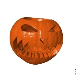 Download free 3D printer files Carved Halloween Pumpkin, 3DWP