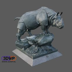 Download free 3D printer files Rhino Statue 3D Scan (Alfred Jacquemart), 3DWP