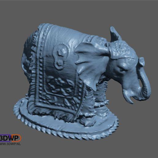 Télécharger fichier STL gratuit Scan 3D de la sculpture d'éléphant • Modèle à imprimer en 3D, 3DWP