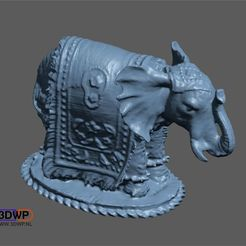 Download free 3D printing models Elephant Sculpture 3D Scan, 3DWP