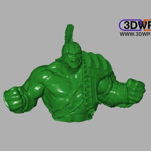 Télécharger fichier STL gratuit Buste de Hulk (Thor Ragnarok) • Modèle à imprimer en 3D, 3DWP