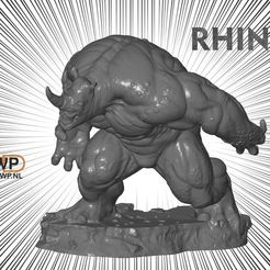 Download free STL file Rhino Statue (Spider-Man), 3DWP