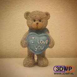 14128704_950036385142201_1478466762_n.jpg Download STL file Teddy Bear Figurine ''I Love You'' 3D Scan • 3D printable template, 3DWP