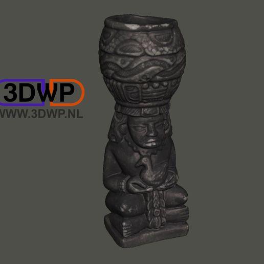 Télécharger objet 3D gratuit Sculpture aztèque (Scan 3D de la statue), 3DWP