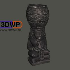 Download free STL files Aztec Sculpture (Statue 3D Scan), 3DWP