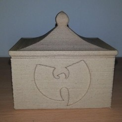 Télécharger objet 3D gratuit Boîte Wu-Tang avec couvercle, 3DWP