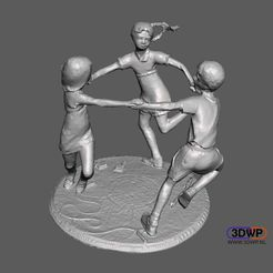 Download free STL file Childhood Sculpture • Design to 3D print, 3DWP