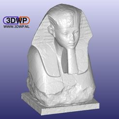 Download free 3D printing templates Sphinx Of Hatshepsut 3D Scan, 3DWP