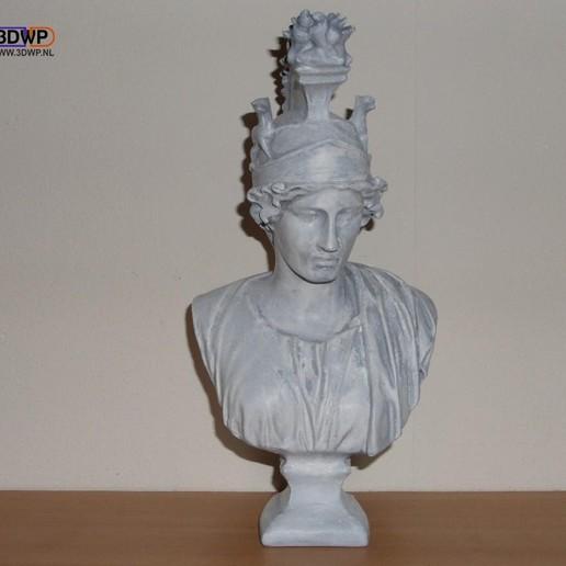 GreekBust2.jpg Download free STL file Greek Bust 3D Scan (Dea Roma/Goddess Rome) • 3D printing object, 3DWP