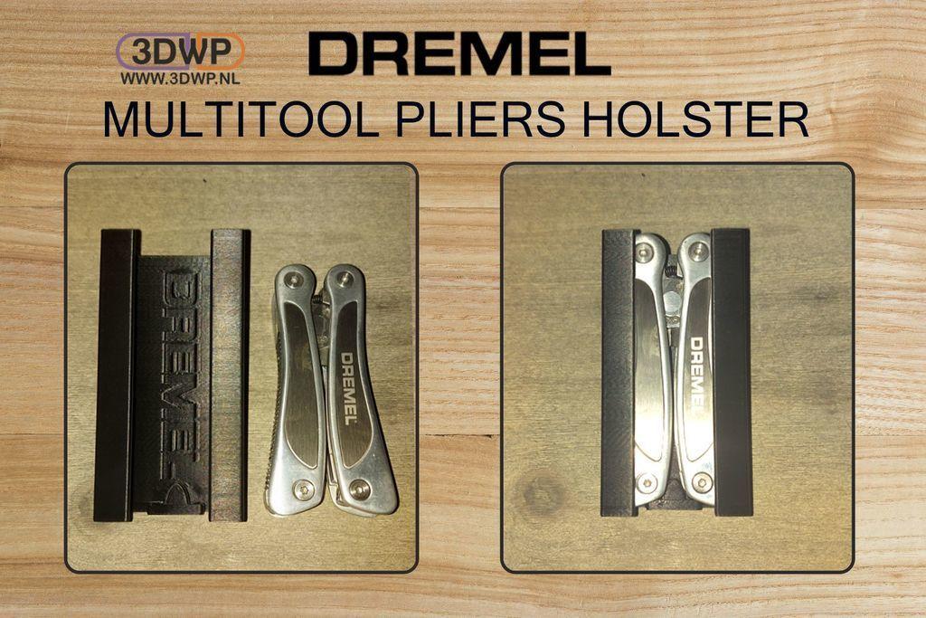 DremelHolster.jpg Download free STL file Dremel Multitool Pliers Holster • 3D printer design, 3DWP