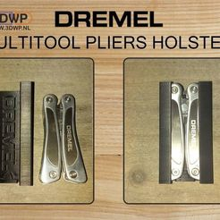 Download free 3D printer model Dremel Multitool Pliers Holster, 3DWP
