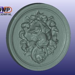 Download free STL files Lion Head Wall Hanger, 3DWP
