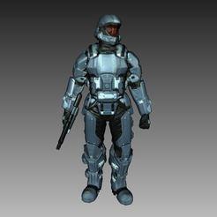 Descargar modelo 3D gratis Escáner 3D Halo 3 ODST Soldier, 3DWP