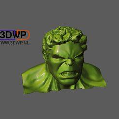 Download free 3D printing templates Hulk Bust, 3DWP
