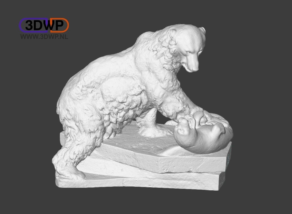 PolarBear.JPG Download free STL file Polar Bear Sculpture (3D Scan) • 3D printing template, 3DWP