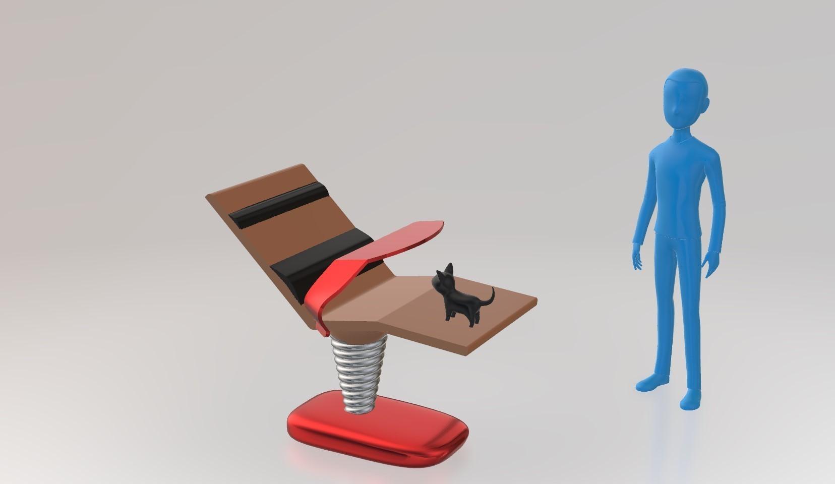 iso.jpg Télécharger fichier STL gratuit le lazydeskchair • Objet à imprimer en 3D, spiriteom