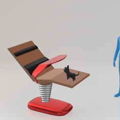 Free 3D printer designs the lazydeskchair, spiriteom
