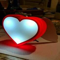 """01.jpg Télécharger fichier STL gratuit Lampe """"Ange de coeur • Modèle à imprimer en 3D, spiriteom"""