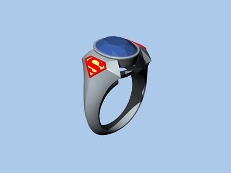Untitled-1.jpg Download STL file SUPERMAN RING • 3D print object, ToneRjewelery