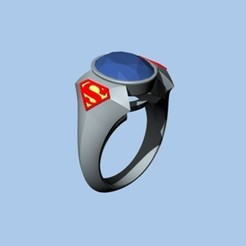 Modèle 3D SUPERMAN RING, ToneRjewelery