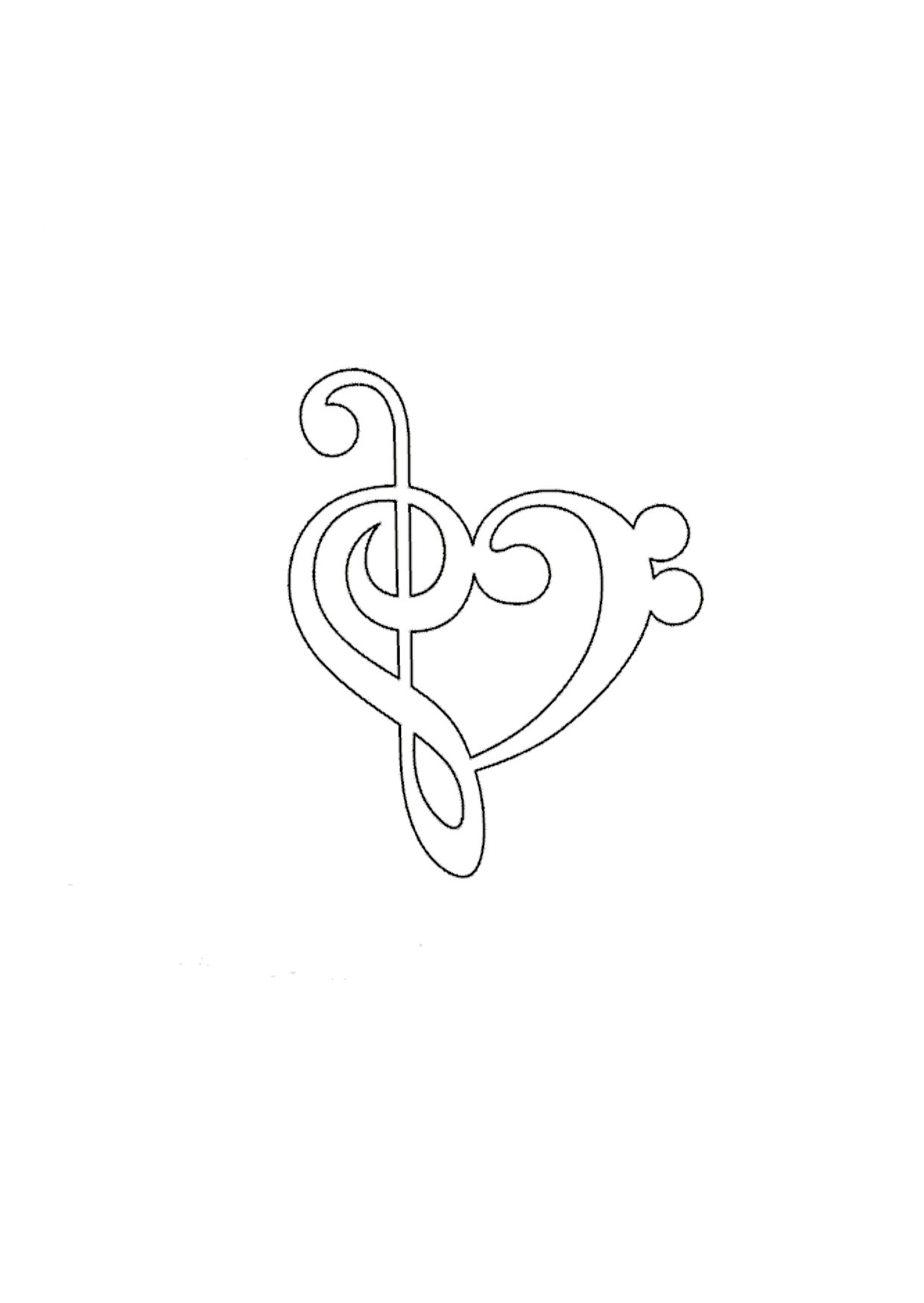 Untitled-1.jpg Download STL file heart music note • Object to 3D print, ToneRjewelery